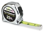 KO425HV 25' CHROME HI-VIZ TAPE MEASURE