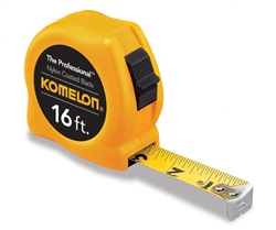 KO4916  16' NYLON COATED PROFESSIONAL STEEL TAPE  MEASURE