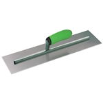 "KRHC144PF 16""x4"" Hi-Craft Concrete Trowel w/ Green Soft Grip Handle"