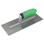 "KRHC145PF 11""x4 1/2"" Hi-Craft Concrete Finishing Trowel w/Green Soft Grip Handle"