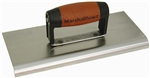 "MT160SSD Marshalltown 6 x 4 SS Edger-Straight Ends-1/8""  Radius, 1/4"" Lip-DuraSoft® Handle"