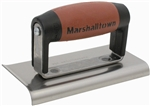 "MT176D Marshalltown 6 x 3 Edger-Curved/Straight-3/8"" Radius, 1/2"" Lip-DuraSoft® Handle"