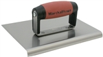"MT185SSD Marshalltown 8 x 6 SS Edger-Straight Ends-3/8"" Radius, 1/2"" Lip-DuraSoft® Handle"