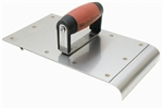 "MT3885SD Marshalltown 6"" x 8"" Stainless Steel Safety Step Edger/Groover - 1/2"" Radius - 5/8"" Lip"