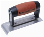 MT489N Marshalltown 1 x 6 Narrow Stainless Steel Hand Edger-DuraSoft® Handle; 1/4 R, 3/8 Lip
