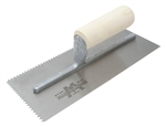 MT701 Marshalltown 11 x 4 1/2 Notched Trowel-7/32 x 5/32 'V' w/Straight Wood Handle