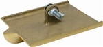 "MT8305 Marshalltown 6 X 4 1/2"" Bronze Walking Groover - 1/4"" Radius, 3/8"" Wide, 3/4"" Deep"