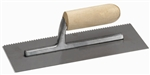 MT973 Marshalltown 11 X 4 1/2 Notched Trowel-1/4 X 1/4 X 1/4 SQ w/Wood Handle