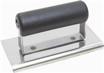 "MTCE507SP Marshalltown 6 X 4 SS Edger-1/4"" Radius, 3/8"" Lip - Plastic Handle"