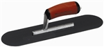 "MTMSP12BD Marshalltown 12 X 3 1/2"" Blue Steel Pool Trowel w/Curved DuraSoft® Handle"