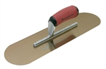 "MTMSP164GSD Marshalltown 16 X 4"" Golden Stainless Steel Pool Trowel w/Curved DuraSoft® Handle"