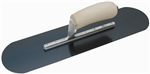 "MTMSP815B Marshalltown 18 X 5"" Blue Steel Pool Trowel w/Curved Wood Handle"