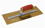 MTPB13GSD Marshalltown 13 X 5 PermaShape® Golden Stainless Steel Finishing Trowel w/Curved DuraSoft® Handle