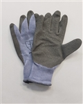 NG1512L Pr Blue Crinkle Cut Heavy Duty Gray Palm Glove - Large - Sold in Dozens Only