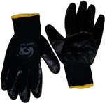 NG1905 Pr Black Gripper Dipped Glove - Large - Sold in Packs of 8 Only
