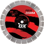 "OXPB10-14   OX 14"" ZebraPro Abrasive/Gen Purpose Diamond Blade"