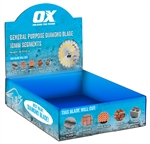 "OXTC10-7B Trade General Purpose 7"" Diamond Blade/10 Blade Counter Box"