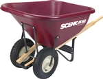 SCM10-2K Scenic Road 10 Cf Wheelbarrow w/Dual Knobby Tire