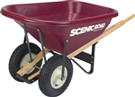 SCM8-2K Scenic Road 8 Cf Wheelbarrow w/Dual Knobby Tire