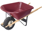 SCSRM6TURF 6 Cf Poly Tray Wheelbarrow with Heavy Duty Wide Turf Tire