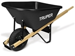Truper 6 CF Poly Wheelbarrrow with wood handles