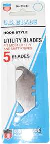 US0255H Craftco Big Hook Utility Knife Blade 5/Pk Carded