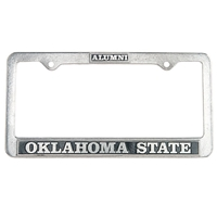 Alumni Pewter License Plate Frame OUT OF STOCK