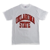 Oklahoma State White Full Arch T-Shirt