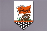 OSU OK State We All Cheer Garden Flag