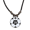 Our Soccer Ball Number Necklace is a Great Gift for any player looking to represent their digits! This unique soccer gift is personalized with the player's number. The numbers are available from 1 through 25. Grab yours today!