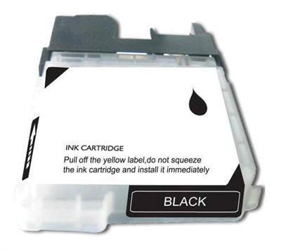 Brother LC65HYBK Black Ink Cartridge, High Yield