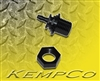 "1/8"" Hose-Barb Thru-Panel Adapter with Hex Nut - Black Nylon"