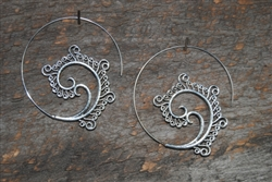 Ocean Spiral Earrings