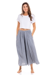 Thai Stripe Cotton Pants