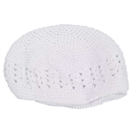 Knit White Cap