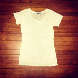 Burnout V-Neck Tee (L)