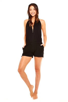 Terez - Womens Black French Terry Romper