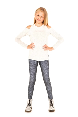 Terez - Girls Heathered Gray Leggings
