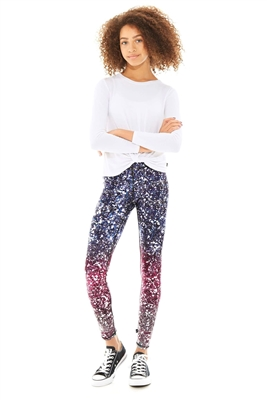 Terez - Girls Glitterally Ombre Purple Leggings