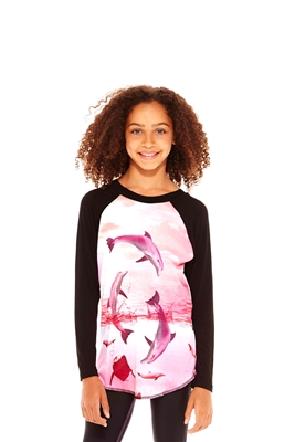 Terez - Girls Dolphinitely Baseball T-Shirt