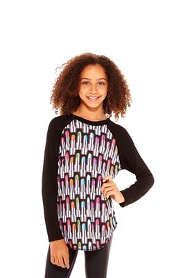Terez - Girls ZT Lipstick Baseball T-Shirt