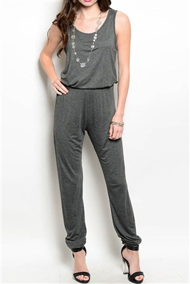 Silvia Charcoal Sleeveless Jumpsuit