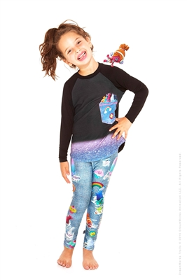 Terez Kids Trolls Denim Leggings