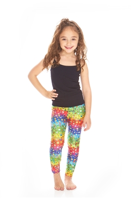 Terez Kids Emoji Rainbow Leggings