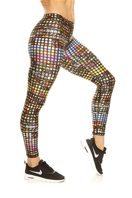 Terez Womens Emoji Performance Leggings