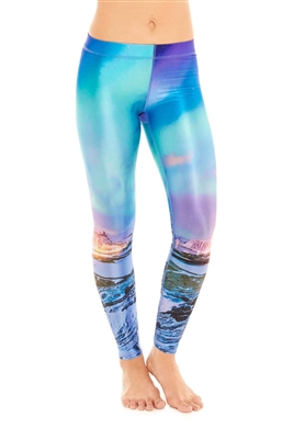 Terez - Womens Icelandic Lights Leggings