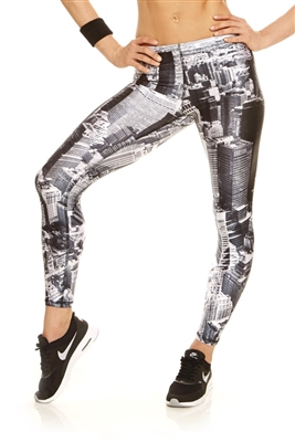 Terez Womens Above NYC Performance Leggings
