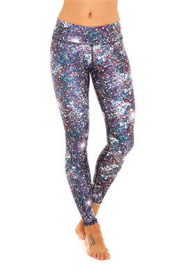 Terez - Womens Night Sparkle Tall Band Leggings