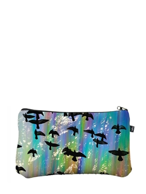 Terez Iridescent Crows Large Makeup Case