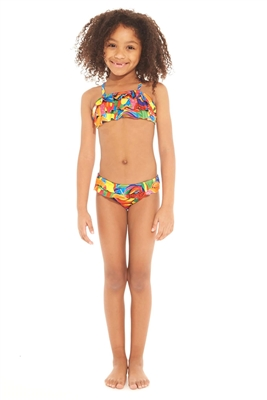 Terez Kids Dylan's Candy Bar Candy Collage Ruffle Bikini